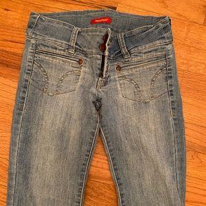 Blue Asphalt | Vintage Flare Hip Hugger Jeans